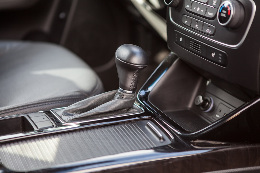 Modern vehicle interior with automatic gear